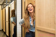 Because I am Happy! Cristina Ferreira was enchanted by our fresh new model: flared denim jeans! #salsajeans #denim