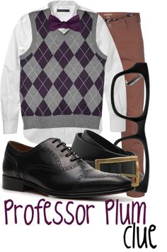 """""""Professor Plum"""" by jami1990 ❤ liked on Polyvore"""