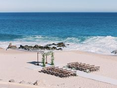Here's Proof That a Beach Wedding Can Be Utterly Elegant and Timeless Wedding Ceremony Decorations, Wedding Ideas, Outdoor Ceremony, Destination Wedding, Canning, Elegant, Beach, Water, Inspiration