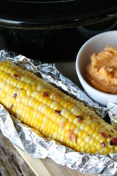 No standing over a pot of boiling water for this corn-on-the-cob. BONUS: 3 flavored butters!