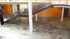 Bodenplatten  aus Muschelkalk - Naturstein, gestrahlt gebürstet  www.muschelkalk.at/ ...