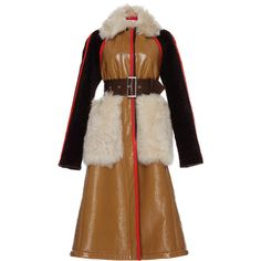 Shearling Coat | Moda Operandi ($8,570) ❤ liked on Polyvore featuring outerwear, coats, brown coat, sheep fur coat, brown shearling coat and shearling coats