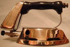 Antique Iron, Vintage Iron, Silver Paint, Irons, Flat Iron, Stoves, Antiques, Laundry Room, Lanterns