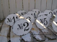 Vintage WEDDING TABLE NUMBERS, Shabby Chic Wedding Signs, Vintage Wedding Decor