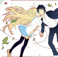 Chitoge and Raku ♡ #TeamChitoge