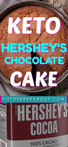 "Are you doing a keto diet and missing Hershey's ""Perfectly Chocolate"" cake recipe? You know the one that's on the back of the Hershey's cocoa powder box? Well, this is a recipe for Keto Hershey's Chocolate Cake allowing you to enjoy this classic recipe wi Hershey Chocolate Cakes, Keto Chocolate Cake, Macarons Chocolate, Chocolate Pavlova, Chocolate Crinkles, Keto Cake, Desserts Keto, Keto Snacks, Holiday Desserts"