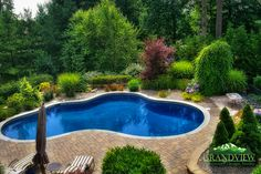love the trees and planting design - The Pool oh yeah!
