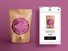 Hammersmith Tea store packaging and app concept