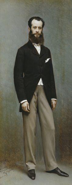 Raimundo de Madrazo (Spanish, 1841-1920), Portrait of Ramón de Errazu, 1879. Oil on panel, 224 x 96.5cm. Museo de Prado, Madrid.