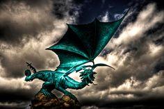 Blue Dragon - Dragon Statue in Coimbra, Coimbra, Portugal