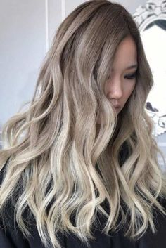 Super hair color ideas for brunettes balayage guy tang ash blonde 68 ideas Blonde Asian Hair, Balayage Hair Blonde Medium, Darker Roots Blonde Hair, Hair Color Ideas For Brunettes Balayage, Blond Ombre, Guy Tang, Hair Videos, Bangs, Lounges