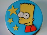 Bart Simpson cake Bolo Simpsons, Simpsons Party, The Simpsons, Delicious Cake Recipes, Yummy Cakes, Bart Simpson, Just Cakes, Little Cakes, Partys