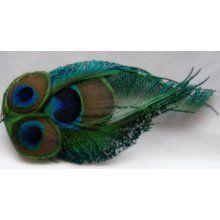 peacock hair piece