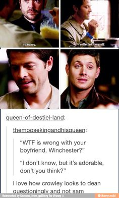 Crowley knows, Crowley always knows<<< Sam too
