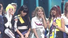 This performance - they killed it!!!  and Bom at the end... I don't even love her all that much but it made me want to cry lol.  :)  They were so shocked!   ...2NE1-'COME BACK HOME' 0316 SBS Inkigayo No.1 of the Week