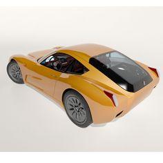 alfa romeo 1900 ss concept 3d model max obj fbx mtl 5