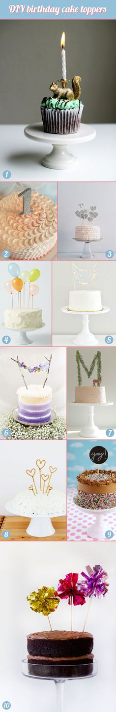 DIY birthday cake toppers #kids #children #wedding