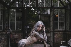 Tattoo model Lauren Hebert , female alternative photo model | USA