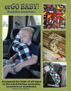 erGO BABY Bendable baby / toddler headrest carseat pillow and cover in Multi Dinos on Black Everything Baby, Baby Kind, Travel With Kids, Baby Fever, Future Baby, Little Boys, Baby Items, Baby Gifts, Car Seats