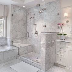 Because there's no such thing as too much marble... | by @anthonywilderdesignbuild |