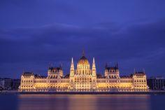 Hungary's parliament at dusk, Budapest © Curtis Budden curtisbuddenphotography Cityscapes, Hungary, Budapest, Dusk, Urban Landscape