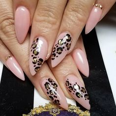 Nails Almond Neutral Classy 53 Ideas - Care - Skin care , beauty ideas and skin care tips Leopard Nail Designs, Classy Nail Designs, Nail Polish Designs, Nails Design, Stiletto Nail Designs, Animal Nail Designs, Stiletto Nails, Gel Polish, Love Nails