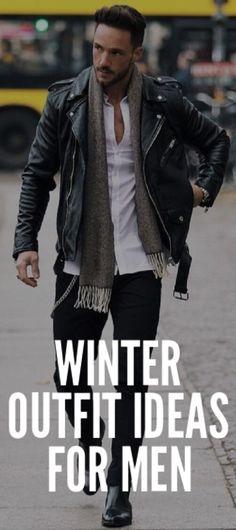 Coolest Winter Outfit Ideas For Men #mensfashion #fallfashion