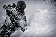 Epic Raw Downhill Mountain Biking on Snow! - VIDEO - http://mountain-bike-review.net/downhill-mountain-bikes/epic-raw-downhill-mountain-biking-on-snow-video/ #mountainbike #mountain biking