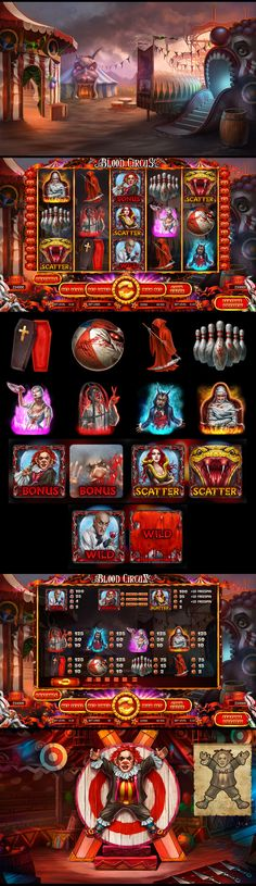 Slot machine - Blood Circus on Behance