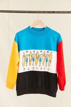Vintage Ocean Pacific Color Block Sweatshirt - Urban Outfitters
