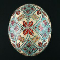 Pysanky Ukrainian Easter Egg Hand Decorated by JustEggsquisite