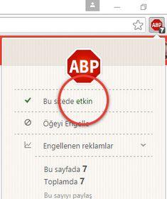 Ad block kapatma