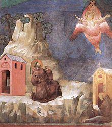 Die Stigmatisation des hl. Franziskus (Fresko von Giotto di Bondone)