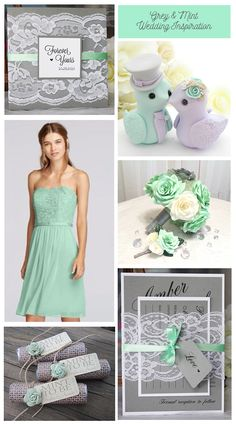 Grey and mint weddin