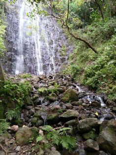 Kiawe Waterfall Honolulu Hawaii