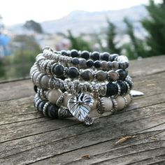 Twisted Silver  - Memory Wire Bracelet - Inspiration