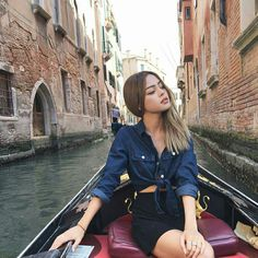Image about girl in styl by Jong Exo-l on We Heart It Casual Fall Outfits, Cute Outfits, Summer Outfits, Couple Goals, Lily Maymac, Wild Girl, Pretty Asian, Denim Top, Fashion Pictures