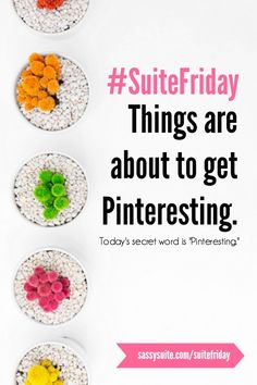"""Contest! Follow Sassy Suite on Pinterest, repin this pin, then click to enter to win today's #SuiteFriday! First 10 to enter get """"Winning with Pinterest"""" video course from Sassy Suite (for yourself or to gift to someone else)!"""