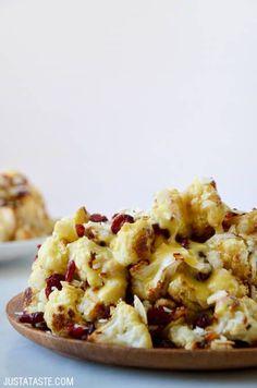 Roasted Cauliflower Salad with Lemon Dressing #recipe on justataste.com