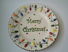 Check out this item in my Etsy shop https://www.etsy.com/listing/259669166/merry-christmas-ceramic-platter #merrychristmas #christmaslights #handmade #etsy