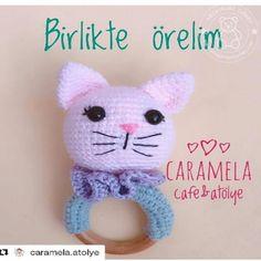 Kedi Çıngırak Panda, Hello Kitty, Turkey, Crochet Hats, Teddy Bear, Toys, Character, Animals, Craft Work