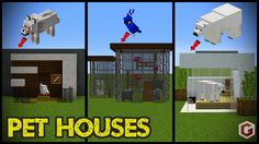 todays minecraft build showcase is on s… 29 Minecraft Pet (Animal) House Designs! todays minecraft build showcase is on small animal houses to keep your pets safe and to look cool! We managed to mak… Minecraft Houses Xbox, Minecraft House Tutorials, Minecraft Houses Survival, Minecraft Modern, Minecraft Plans, Amazing Minecraft, Minecraft Room, Minecraft House Designs, Minecraft Houses Blueprints