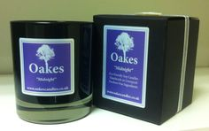 """Oakes """"Midnight"""" Eco Soy Candle 220g To shop Oakes Candles follow the website link!"""