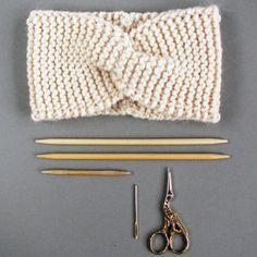 Baby Knitting Patterns, Knitting Blogs, Free Knitting, Knitting Projects, Headband Pattern, Knitted Headband, Knitted Blankets, Knitted Hats, Tricot Simple
