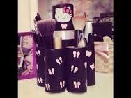 Resultado de imagen para organizador de maquillaje con tubos de carton