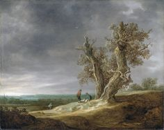Jan van Goyen : Landscape with Two Oaks (Rijksmuseum  (Netherlands - Amsterdam)) 1596-1656 ヤン・ファン・ホーイェン