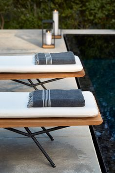 hotel pool Outdoor lounger SAN by Lionel Doyen for Manutti. The art of zen. Ashley Furniture Sale, Baby Furniture Sets, Pool Furniture, Types Of Furniture, Outdoor Furniture, Outdoor Decor, Furniture Online, Rustic Furniture, Outdoor Spaces