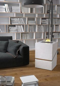 Bioethanol fireplace / contemporary / open hearth / central GENESI BIO MAISONFIRE