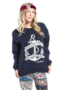 HOPE ANCHOR NAVY CREW NECK SWEATSHIRT Based on Hebrews 6:19 This HOPE we have as an anchor of the soul, both sure and steadfast, and which entereth into that within the veil