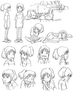 Spirited Away - Chihiro - Reference für drawing a child